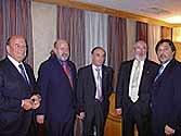 Antonio de la Rosa, José Ignacio Albizu, Isaac Martín Lucas y representantes de la directiva de vendedores en la Cena de Barcelona