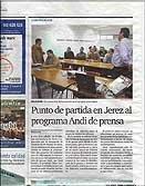 El Diario de Jerez sacó la información a toda página dentro de su sección de comunicación