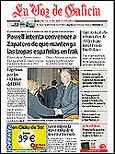 """'La Voz de Galicia""""  ha obtenido el Premio al Mejor Trabajo Periodístico en Prensa Escrita 2004"""
