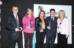 Los representantes de las firmas ganadoras recogieron su galardón, acompañados por Nieves Herrero