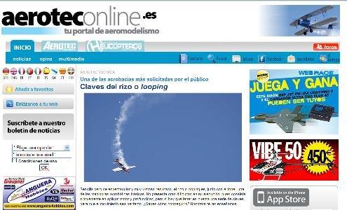La aplicación Iphone de www.aeroteconline.es ha tenido un enorme éxito