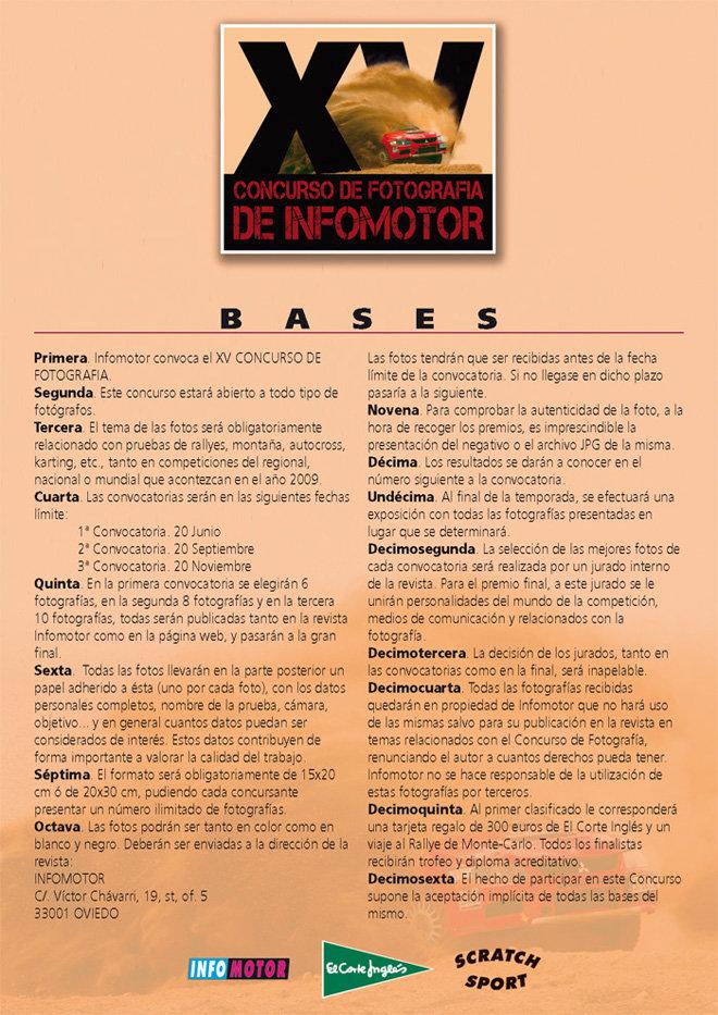 Segunda selección de finalistas del concurso de la revista Infomotor