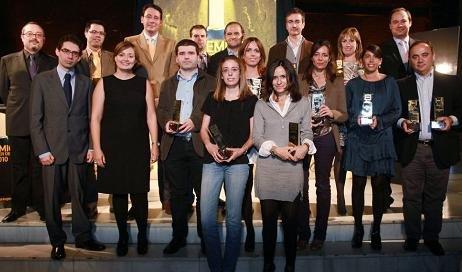 En la imagen, los ganadores de los 13 galardones