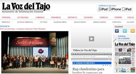 En desarrollo el nuevo portal de LA VOZ DEL TAJO www.lavozdeltajo.com