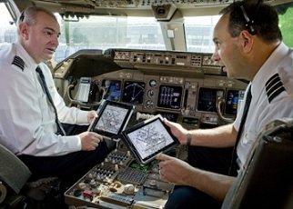 Las líneas aéreas usan el iPad de forma masiva para sus pilotos
