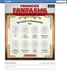 """Clicknaranja anima """"Promoción Fantasma"""" en Facebook y Tuenti"""