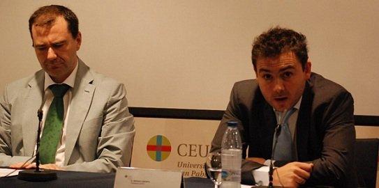 Sergio Crespo y José Francisco Serrano, durante el III Encuentro de la AEPG