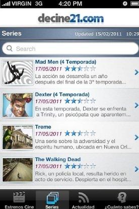 La aplicación exclusiva para iPhone desarrollada por Estrenos21 informa sobre los últimos lanzamientos sobre la gran pantalla