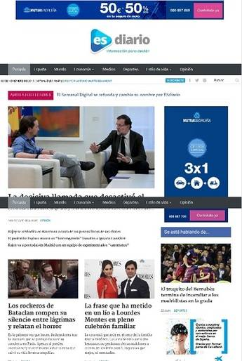 El Semanal Digital se refunda y cambia su nombre por ESdiario